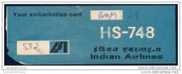 Boarding Pass - Indian Airlines - Bordkarten