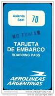 Boarding Pass - Aerolineas Argentinas - Bordkarten