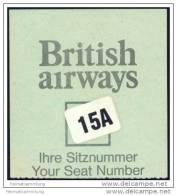 Boarding Pass - British Airways - Bordkarten