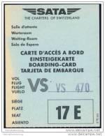 Boarding Pass - SATA - The Charters Of Switzerland - Bordkarten