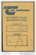 Boarding Pass - Air Tanzania - Bordkarten