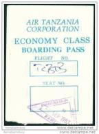 Boarding Pass - Air Tanzania Corporation - Bordkarten