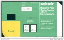 Boarding Pass - Transit - Swissair - Bordkarten