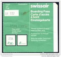 Boarding Pass - Swissair - Bordkarten