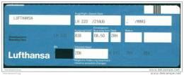 Boarding Pass - Lufthansa - Bordkarten