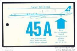 Boarding Pass - Balair - Bordkarten