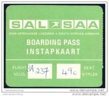Boarding Pass - SAL-SAA Suid Afrikaanse Lugdiens - South African Airways - Bordkarten