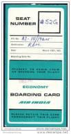 Boarding Pass - Air-India - Bordkarten