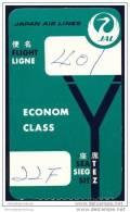 Boarding Pass - JAL Japan Air Lines - Bordkarten
