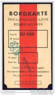 Boarding Pass - Interflug - Bordkarten