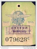 Baggage Strap Tag - Aeroflot - Aufklebschilder Und Gepäckbeschriftung