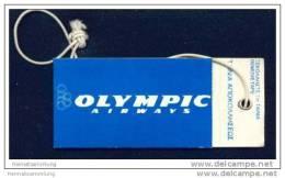 Baggage Strap Tag - Olympic Airways - Aufklebschilder Und Gepäckbeschriftung