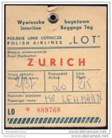 Baggage Strap Tag - LOT Polskie Linie Lotnicze - Aufklebschilder Und Gepäckbeschriftung