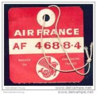 Baggage Strap Tag - Air France - Aufklebschilder Und Gepäckbeschriftung