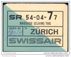 Baggage (claim) Tag - Swissair - Aufklebschilder Und Gepäckbeschriftung