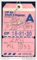 Baggage Strap Tag - CP Air Canadian Pacific Air Lines - Aufklebschilder Und Gepäckbeschriftung