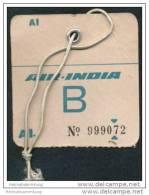 Baggage Strap Tag - Air India - Aufklebschilder Und Gepäckbeschriftung