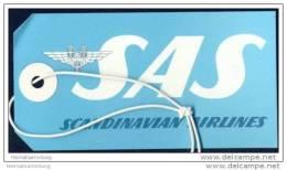 Baggage Strap Tag - SAS Scandinavian Airlines - Aufklebschilder Und Gepäckbeschriftung