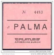 Baggage Strap Tag - Pilatus Air Service Zurich - Aufklebschilder Und Gepäckbeschriftung