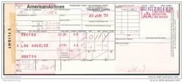 American Airlines 1973 - Boston Los Angeles Boston - Tickets