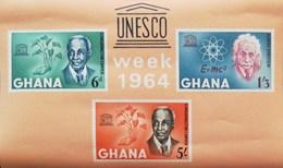 Ghana 1964 Human Right Day UNESCO Week. S/S - Ghana (1957-...)