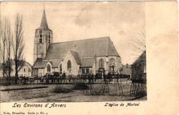 1 Oude Postkaart Mortsel   Kerk V Mortsel  Uitg.Nels   Serie 71 N°9   Reklame RENAUX - Mortsel