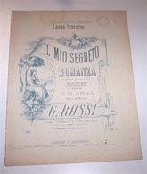 Musica Spartiti Rossi - Il Mio Segreto Romanza Pianoforte Con Testo 1920 Ca. - Music & Instruments