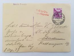 1.Uffiz.Posta-Swizzer-Automobil 8.08.1937 Postkarte Von Scuol Festa D'Engiadina Nach Aarau - Suisse