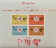 Ghana 1965 International Telecommunication Union S/S - Ghana (1957-...)