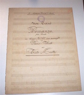 Musica Spartiti Mattei - Non Tornò Romanza Canto Pianoforte Con Testo 1920 Ca. - Musica & Strumenti
