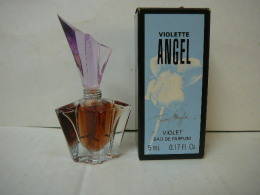 """MUGLER """" ANGEL: VIOLETTE"""" MINI EDP 5 ML  + BOITE  LIRE ET VOIR!! - Miniatures Modernes (à Partir De 1961)"""