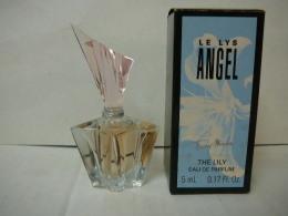 """MUGLER """" ANGEL: """" LE LYS"""" """" MINI EDP 5 ML  + BOITE  LIRE ET VOIR!! - Miniatures Modernes (à Partir De 1961)"""