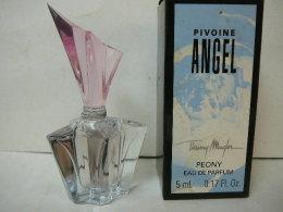 """MUGLER """" ANGEL: """" PIVOINE """" MINI EDP 5 ML  + BOITE  LIRE ET VOIR!! - Miniatures Modernes (à Partir De 1961)"""