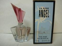 """MUGLER """" ANGEL: """"LA ROSE"""" MINI EDP 5 ML  + BOITE  LIRE ET VOIR!! - Miniatures Modernes (à Partir De 1961)"""
