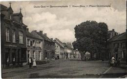 1 Postkaart 1919 Mortsel Zeer Oud Cliché Gemeenteplaats Bogartz  Café In't Postje  Van Camp  Café Restaurant De Zwaan - Mortsel
