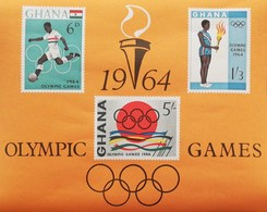 Ghana 1964 18th. Olympic Games ,Tokyo S/S - Ghana (1957-...)