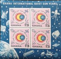 Ghana 1964 Intl. Quiet Sun Year S/S - Ghana (1957-...)