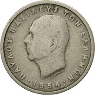 Monnaie, Grèce, Paul I, Drachma, 1954, TB, Copper-nickel, KM:81 - Grèce