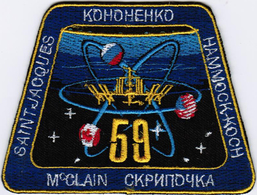 ISS Expedition 59 International Space Station Iron On Patch - Patches