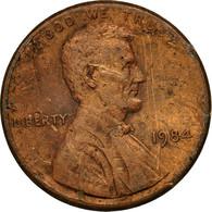 Monnaie, États-Unis, Lincoln Cent, Cent, 1984, U.S. Mint, Philadelphie, TB - Federal Issues