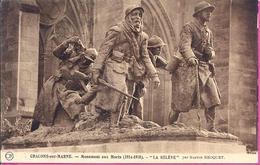 """- 51 --   CHALONS SUR MARNE -- MONUMENT AUX MORTS  """" LA RELEVE"""" - Châlons-sur-Marne"""