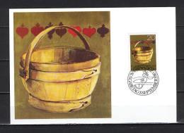 Maxi Card B50 Liechtenstein 1980 Old Alpine Farming Equipment Milking Pail - Unclassified