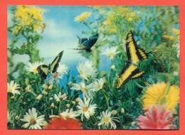 ANIMALI - FARFALLE - BUTTERFLIES  - PAPILLONS - TRIDIMENSIONALI - STEREOSCOPICHE - Cartoline Stereoscopiche