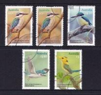 Australia 2010 Kingfishers Complete Set Used - 2010-... Elizabeth II
