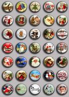 Christmas BADGE BUTTON PIN SET 1 (1inch/25mm Diameter) 35 DIFF - Noël