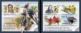 Niger 2018, Animals, Birds, A. Wilson, 4val In BF+BF - Songbirds & Tree Dwellers