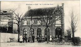 1 Oude Postkaart   EDEGEM   Edeghem   Café In't Zicht Der Grot  Uitg   Bongartz    1905 - Edegem