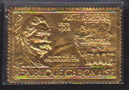 Gabon, Airmail, Goden Stamp, Schweitzer, 1000 F., Mi. 233 - Gabon