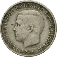Monnaie, Grèce, Constantine II, Drachma, 1966, TB+, Copper-nickel, KM:89 - Grèce
