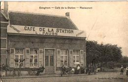 1 Oude Postkaart  EDEGEM  Edeghem   Café De La Station L.Pauss Afspanning  1909  Uitg.Bongartz - Edegem